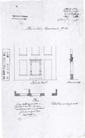 1892 - Verbouwing met tribunevenster door VAnderostyne in 1892 - bouwaanvraag SAG G12 nr. 1892 - O2. Beeld: Stadsarchief Gent, opname: 1995
