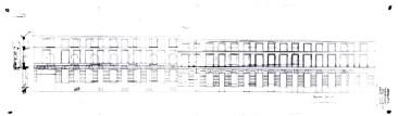 1901 - gevelplan (composiet van twee aanvullende tekeningen) - SAG G12 1901-02. Beeld: Stadsarchief Gent, opname: 1995