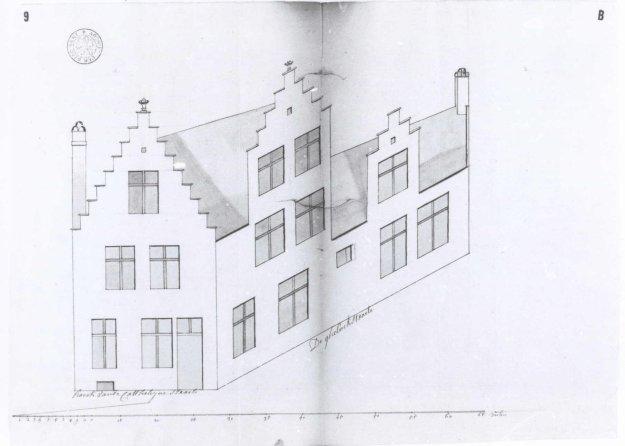 1757: bouwtekening door Joannes de Frey