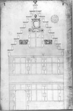 1705 - voorgevel - eerste kwart achttiende eeuw - SAG 535-285/2 (1705). Beeld: Stadsarchief Gent, opname: 1995