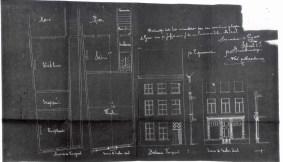 1911 - voorgevel en grondplan bestaande en nieuwe toestand - eerste kwart twintigste eeuw - SAG G12 1911 F10 (1911). Beeld: Stadsarchief Gent, opname: 1995