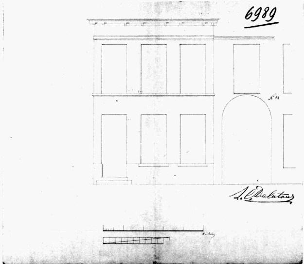 voorgevel - tweede kwart negentiende eeuw - SAG G12 6989 (1846). Beeld: Stadsarchief Gent, opname: 1995
