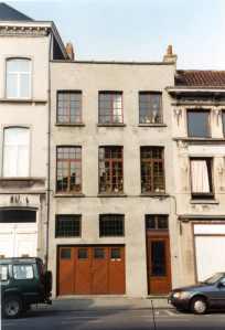 voorgevel - tweede kwart achttiende eeuw - SAG R535/217-10 (1734). Beeld: Stadsarchief Gent, opname: 1995
