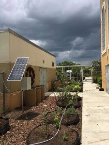 Water Wise Landscape Solutions, Beachside Montessori School teaching garden solar panel installation