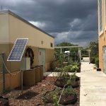 Water Wise Landscape Solutions, Beachside Montessori School teaching garden solar panel installation