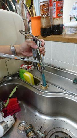 シングルレバー水栓取替工事