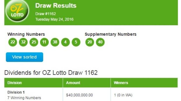 One lucky player is $40 million richer...but there was no major joy for WA.