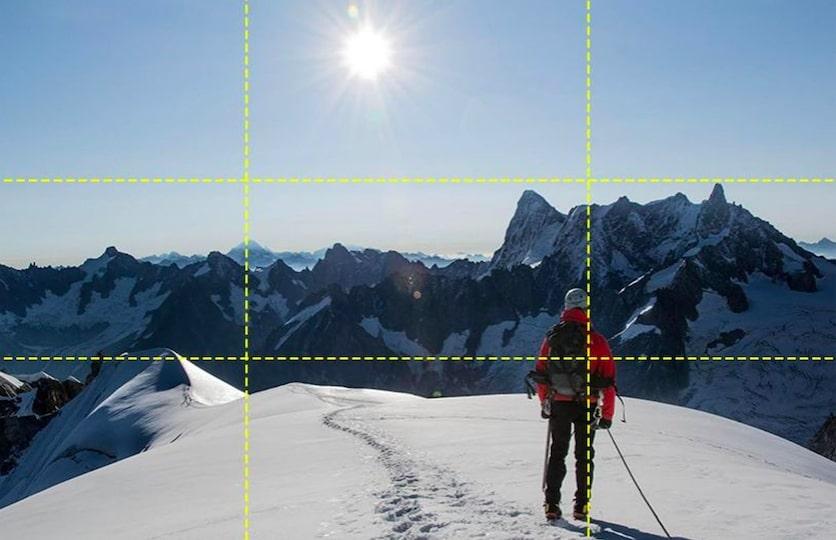 photo en randonnée - réussir photos randonnée - règles des tiers photo