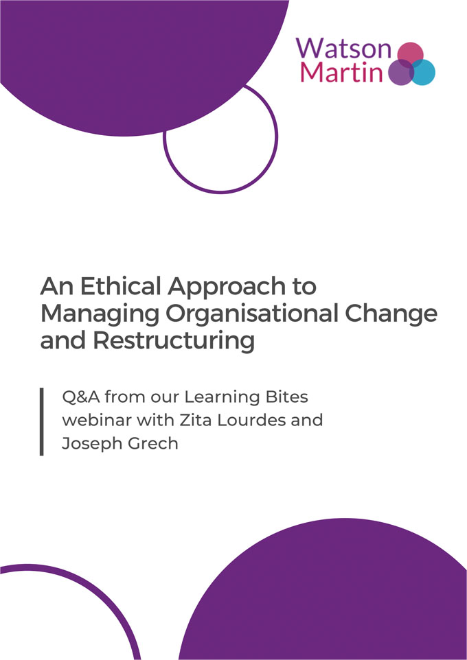 Ethical Approach to Managing Organisational Change Cover