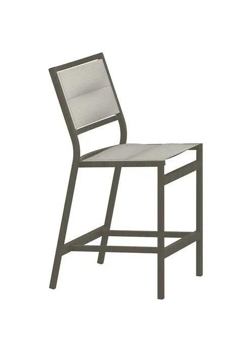 cabana club padded sling armless counter height stool
