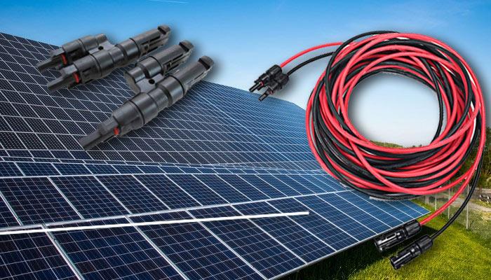 cables solaires et connecteurs pour