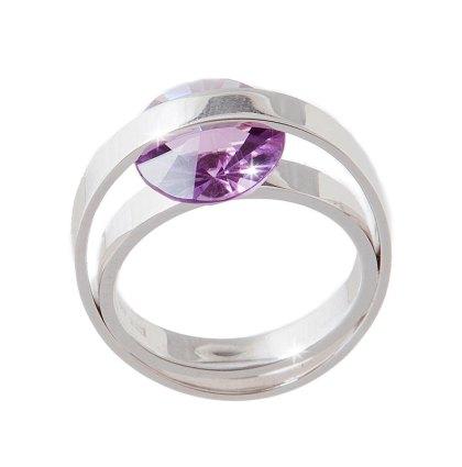 Witgouden ring met amethist (spirit sun slijpsel)