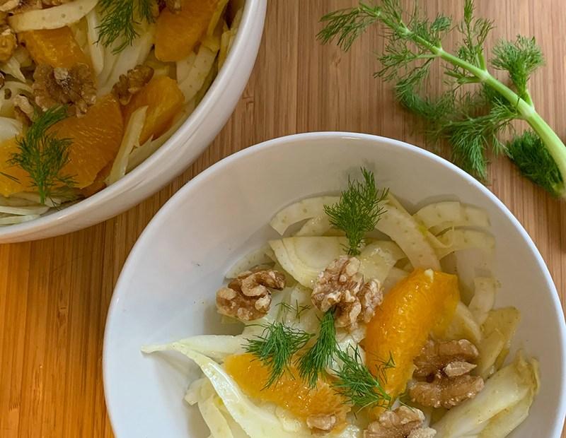 Venkelsalade met sinaasappel