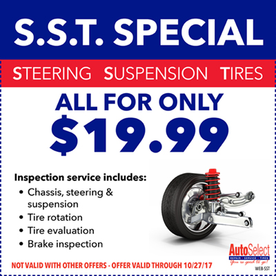 Don't miss out! Best Automotive Specials at any Auto Select Location!