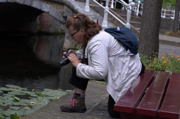 Mirande aan het fotograferen