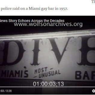 Miami Beach first gay bar, was raided by police and closed down in 1952. 1608 Alton Rd (was Taco Rico location)