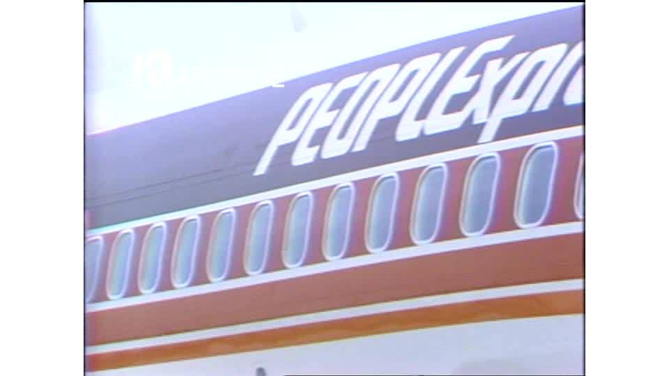WAVY Archive: 1981 People Express Ribbon Cutting
