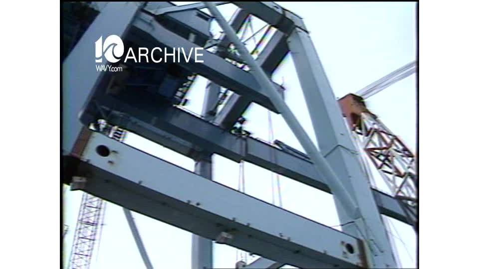 WAVY Archive: 1981 Largest Ship Container Crane