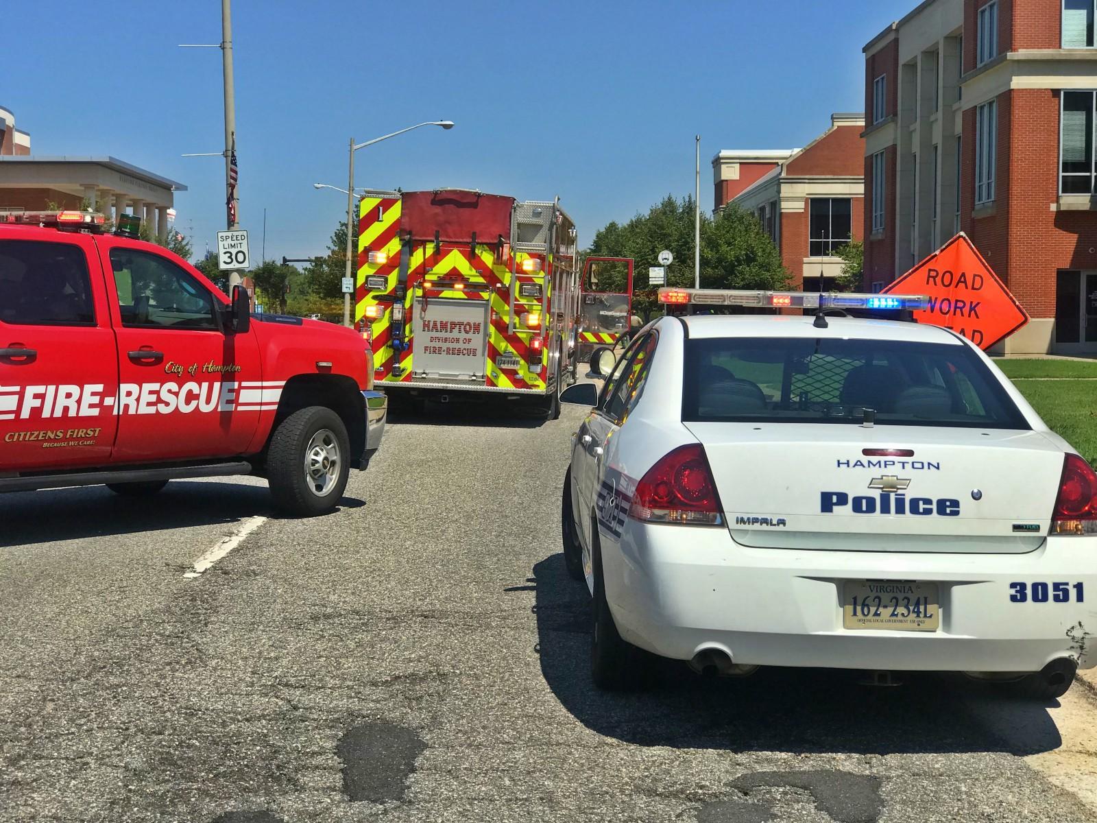 Bomb threat scene Hampton