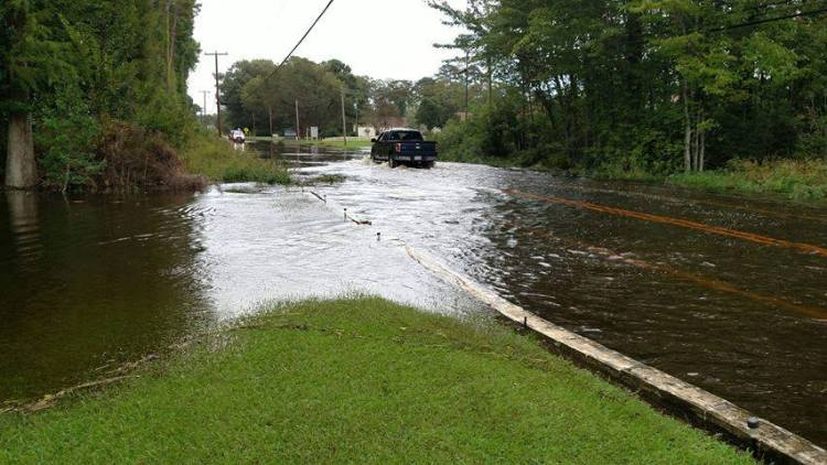 Flooding reported on roads across Camden, Pasquotank counties