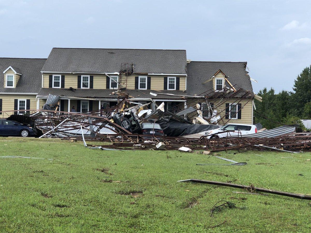Chesterfield tornado damage