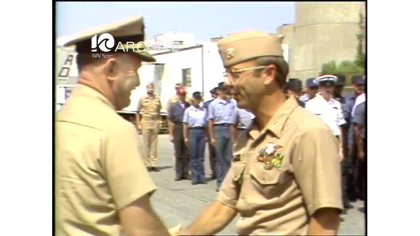 WAVY Archive: 1981 Iran Hostage CDR Donald Sharer Ceremony