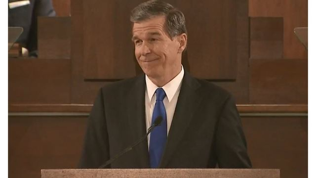 North Carolina Governor Roy Cooper (D) during the 'State of the State' address Monday evening_1551150447081.jpg.jpg