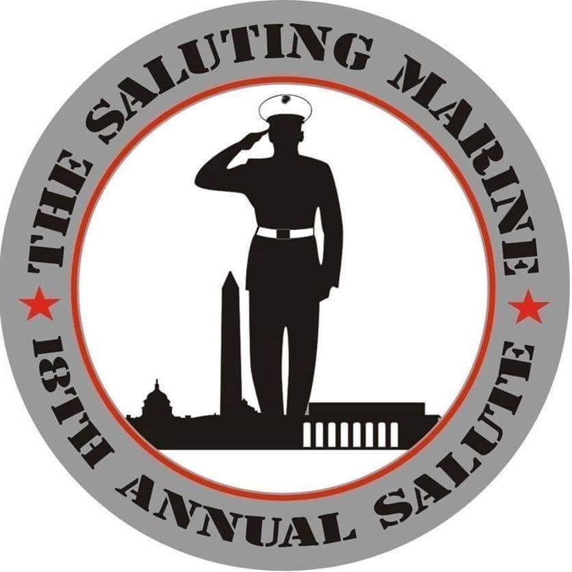 Saluting the marine