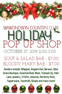 2019 Holiday pop up shop