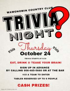 October Trivia 2019 - Made with PosterMyWall