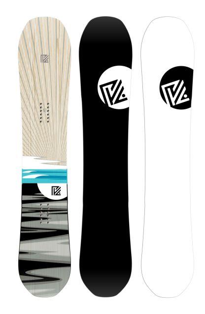 Voor en achterkant van de pick your line van Yes Snowboards 20/21