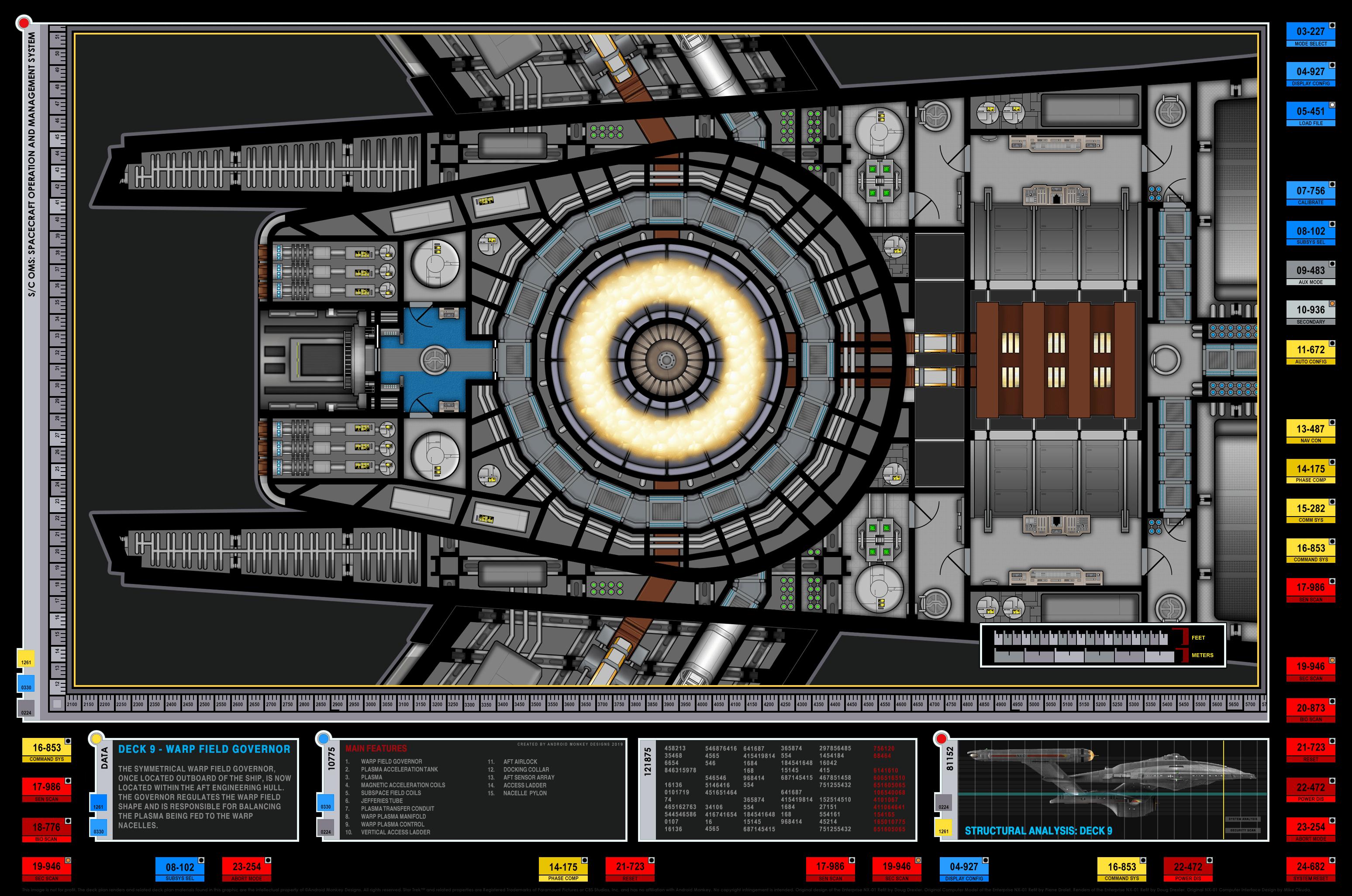 Enterprise Nx 01 Refit Warp Field Governor Detail Plan
