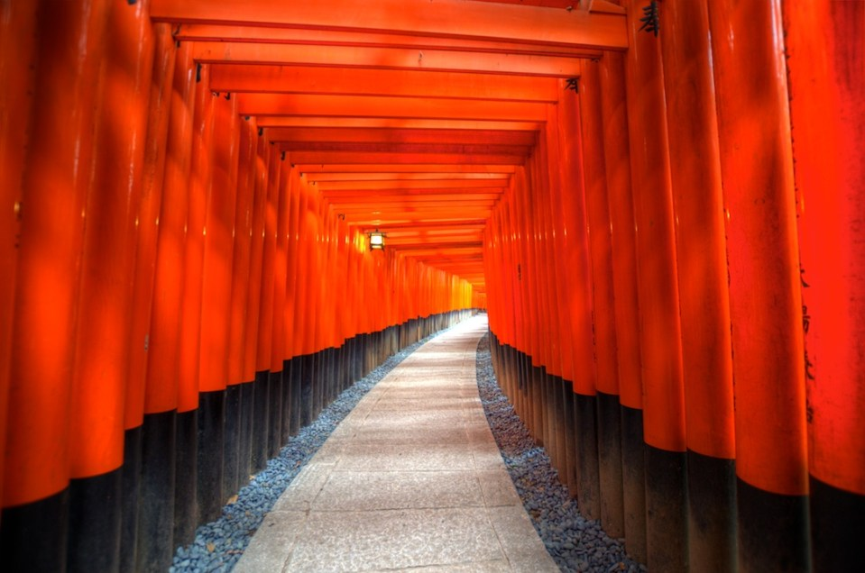 Tori Gates at Fushimi Inari