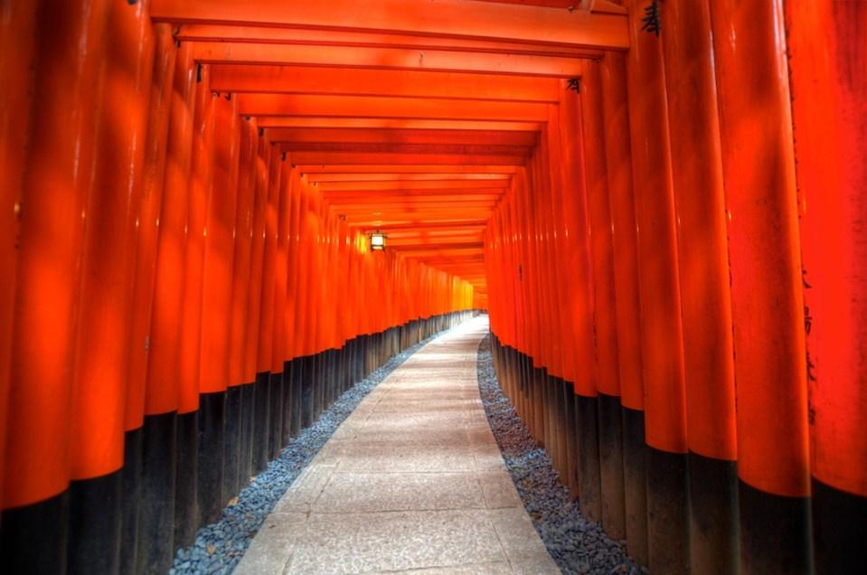 Tori Gates at Fushimi Inari