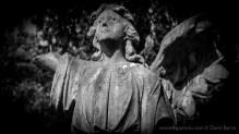 Angel statue in graveyard, St Nicholas Church, Thames Ditton