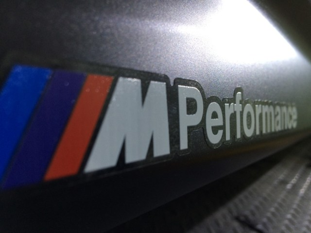 M PERFORMANCE DECAL BADGES, Applied.  Isee2 Vinyls installed and decal badges applied.