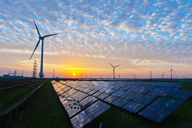 Sonnen- und Windkraftanlage