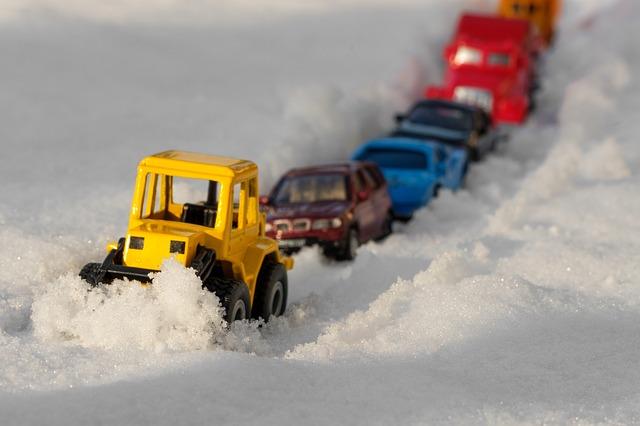 Winter Stau Elektroauto