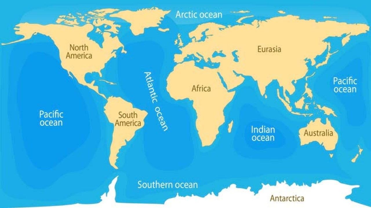 The deepest point is at 36,198 ft (11,033 m) located in the mariana trench in the pacific ocean. 5 Oceans Of The World With Names And Images Way2info Com