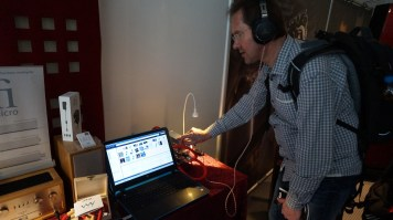 Demonstration of iWAY interconnects with iFi Audio system at Munich High End Show 2015.