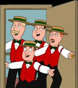 Barbershop quartet contest