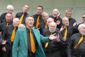 Wayfarers singing in Vale Park