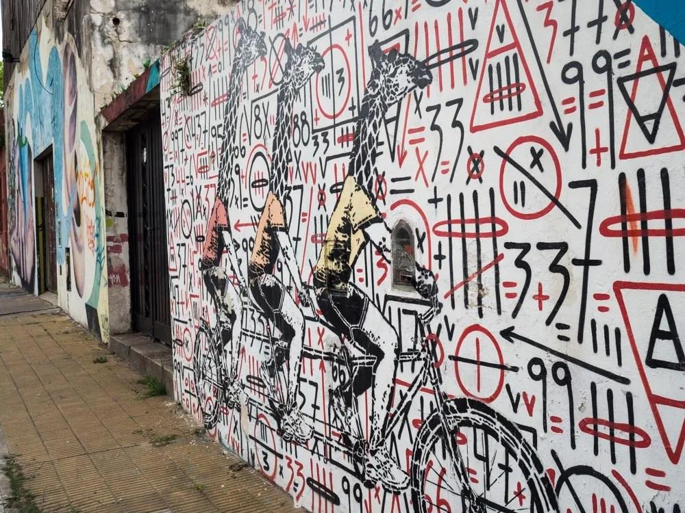 Buenos Aires Street Art Giraffe Stencil
