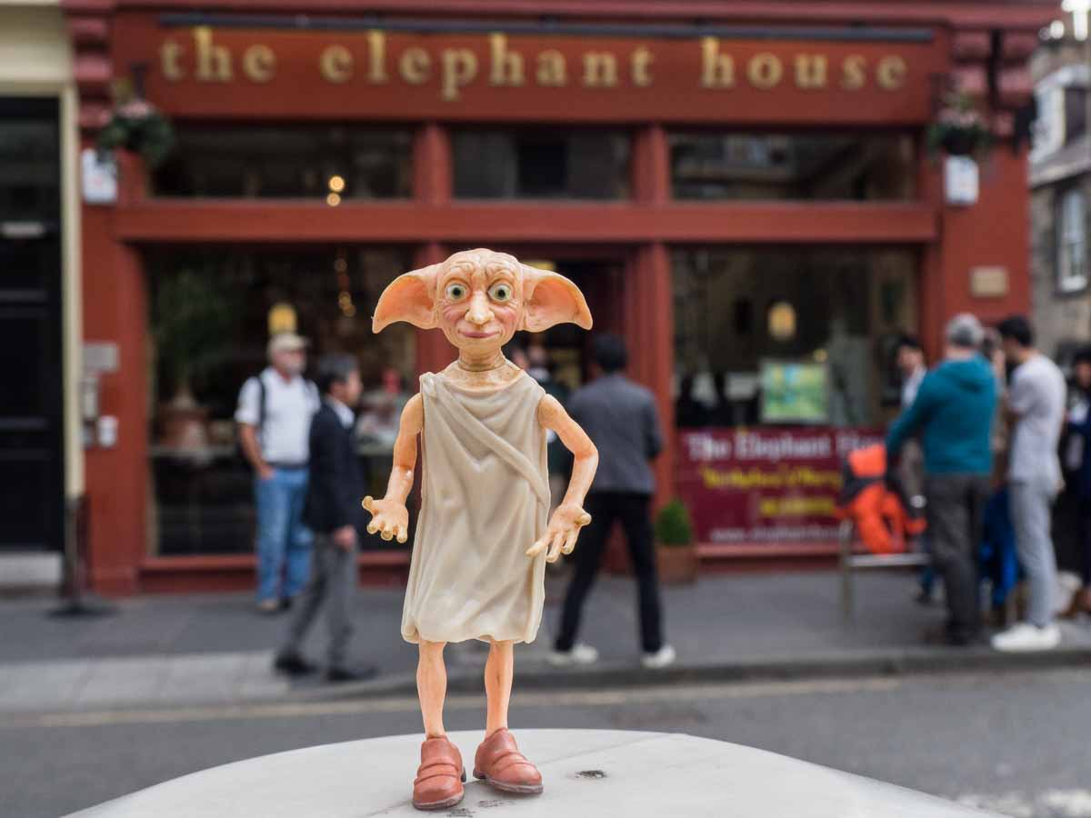 Dobby at Elephant House Cafe Edinburgh