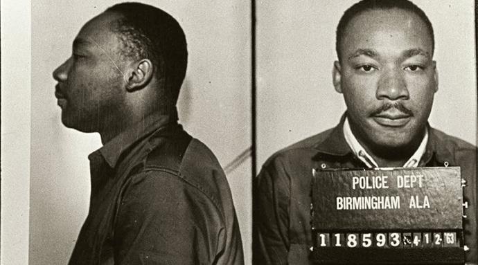 Dr. King's mugshot from Birmingham, AL 1963