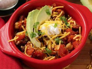 photo shows a vegetarian chilli dish
