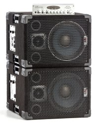 Wayne Jones Audio - 1x10 pair stacked with WJBP Bass Guitar Pre-Amp. 1000 Watt 1x10 / 500 Watts per side