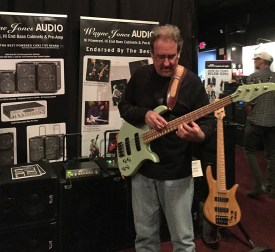 Brian Bromberg enjoying playing through a Wayne Jones AUDIO bass guitar speaker rig @ Bass Player LIVE! 2015 - SIR Studios in Los Angeles