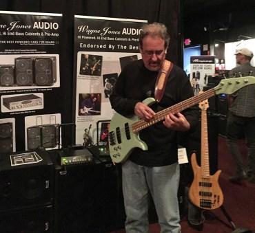 Brian Bromberg enjoying playing through a Wayne Jones AUDIO bass guitar speaker rig @ Bass Player LIVE! 2015 - SIR Studios in Los Angeles