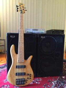 Play a Fodera Monach 5 Deluxe bass guitar through a Wayne Jones AUDIO bass guitar speaker rig in Melbourne Australia